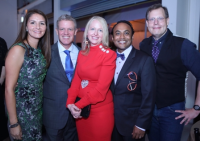 Marianna and Paul Ingersoll, co-chairs Triss Babrowski and Sundeep Mullangi, Jay Dandy