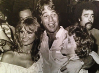 Cathy St. George with Tony Danza and friend at Studio 54 in 1982