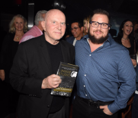 """Inside Studio 54"" author Mark Fleishman and friend at his recent book launch party"