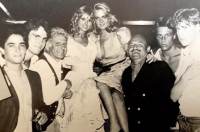 Studio 54 (1982) with Cathy, Mark Fleishman, Cornelia Guest, Lester Persky and friends