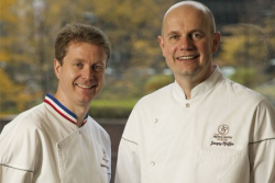 French Pastry School co-founders Chefs Sebastien Canonne and Jacquy Pfeiffer