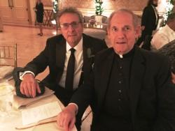 Tony with Monsignor Ken Velo
