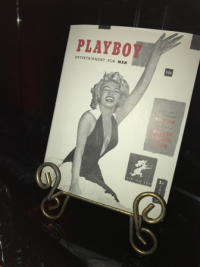 Lots of vintage Playboy memorabilia was on display at the party