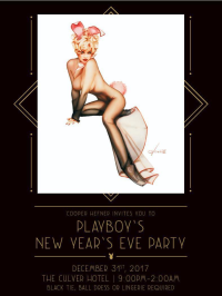 Playboy New Years Eve 2018--Emailed NYE invite