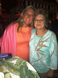 Tony's sister Maryann Folino (R) and cousin Tracy Lundergan.