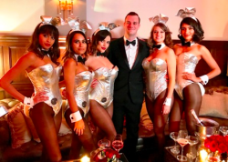 Cooper and the Bunnies! (Playboy photo)