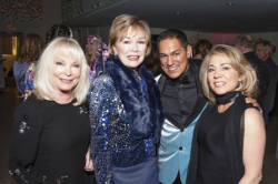 Lyn McKeaney, Peggy Lombardo, Cesar Salinas and friend