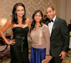 Lourdes Duarte with co-chairs Anjani and Saurab Bhargava