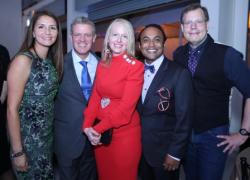 Marianna Ingersoll, Paul Ingerson, co-chair Trissa Babrowski, co-chair Sundeep Mulangi and Jay Dandy