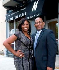 M Lounge owners, MaryAnn and Reginald Marsh