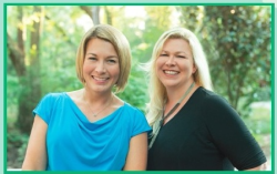 Children's book authors/sisters Tara Luebbe and Becky Cattie