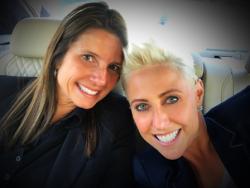 Newly engaged Susan Santiago and Laura Schwartz!