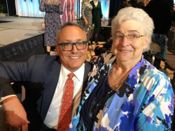 Tony Abruscato dedicated the show to his mom, Judy Abruscato
