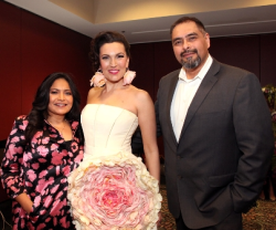 Designer Elda de la Rosa, Maria Villari and Jesse Rodriguez