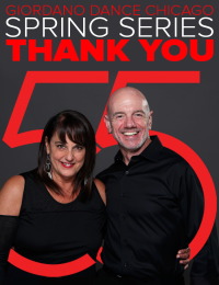 Giordano Dance Chicago artistic director Nan Giordano and executive dir. Michael McStraw thank their supporters
