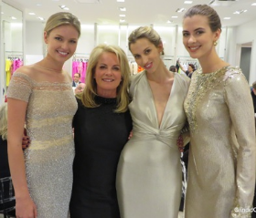 Pamella Roland with her glam models