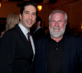 Ensemble member David Schwimmer and board member Richard Ditton
