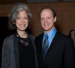 Civic Engagement Award winner Martha Lavey and Artistic Director Andrew White