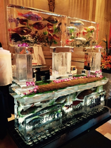 Ice sculpture/sushi bar for Wicker Park Seafood & Sushi