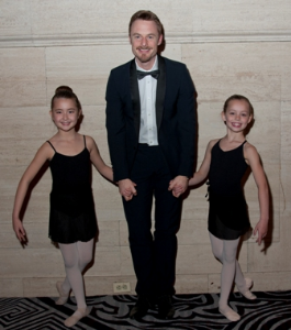 Christopher Wheeldon with Joffrey Academy students.