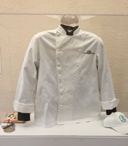 Chef's Trotter's jacket with his treasured James Beard Humanitarian of the Year Award