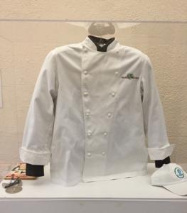 Chef's Trotter's jacket with his treasured James Beard Humanitarian of the Year Award