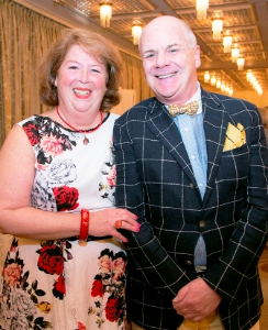 Co-chair Susan Colletti with Bunky Cushing