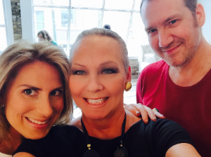 Selfie with Kara Norton and hairstylist Charles Lord