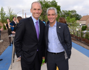 Boeing Company's Dennis Muilenburg and the Mayor