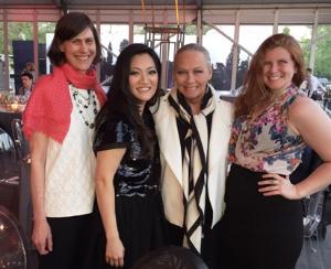 With friends Lisa Bertagnoli, Ji Suk Yi and my fab Trib photog Hilary Higgins.