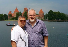 Darling Art Smith and Jesus Salgueiro in Vilnius, Lithuania