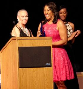 Dorri McWhorter receives her N'Digo Award