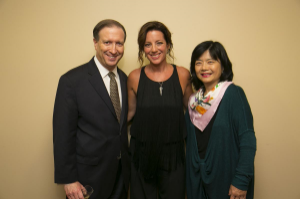 CSO president Jeff Alexander and wife Keiko with Sarah McLachlan
