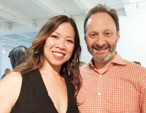 Board members Carmelita Tiu and Joel Straus