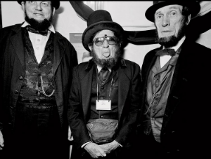 "A photo taken at an Abe Lincoln convention for Yvette's book, ""The Unconventionals"""