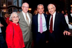 Renee Katten, Brett Batterson, Mayor Emanuel, Mel Katten