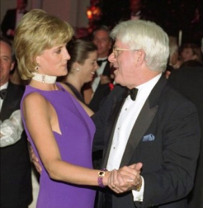 Princess Di dancing with Phil Donahue--happy?  I think not!