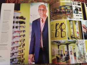 "Spex Optical's CEO Robert Rich in CS Modern Luxury Magazine's ""Source"" issue"