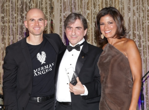 Jonny Imerman, Dr. Leonidas Platanias and Zoraida Sambolin.