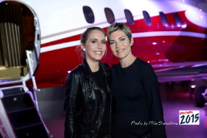 Ann Armstrong and Qatar Airways' Rebecca Jelfo (sponsor)