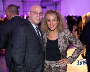 Media sponsor Michigan Avenue Mag's Dan Uslan and wife Sharon