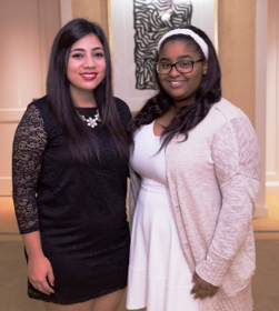 Evans Scholars Joanna Hernandez and Shalonda Jones