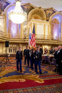 Army ROTC color guard from the U of I at Chicago