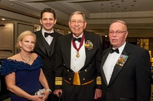 Dawn Overend, Kenneth Clarke, Vice Admiral N.R. Thunman, USN (Retired), Rear Admiral Richard Schnieder USCG (Ret.)