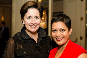 Board member/gala chair Virginia Fitzgerald and Anupy Singla