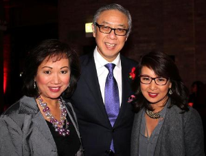 Nancy Loo, Yang Chao and Joanie Lum