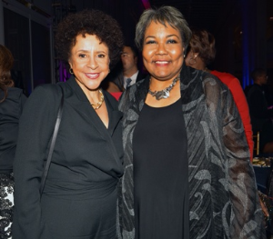 Interviewee Sheila Johnson with Julieanna Richardson, founder/executive director HistoryMakers