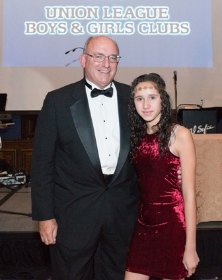 Terry Hendrickson (Union League Boys & Girls Clubs Board President) & Breanna Rivera (Union League Boys & Girls Clubs Member, delivered invocation at Gala)