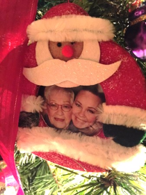 A treasured ornament of my mom and me.