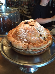 A big ass apple pie at City Diner!